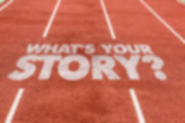 Whats Your Story_ written on running tra