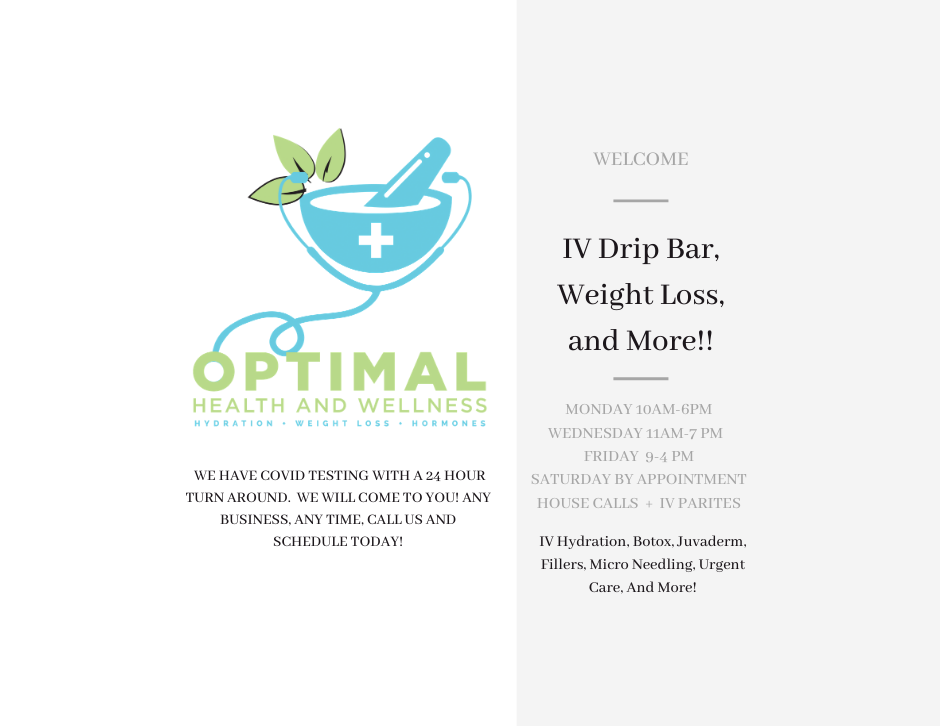 WELCOME IV Drip Bar, Weight Loss and Mor