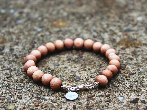 Cedar Wood & Silver Bracelet
