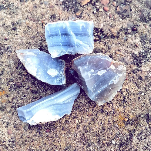Rough Blue Agate