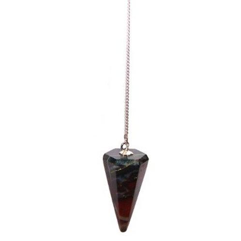 Bloodstone Crystal Pendulum
