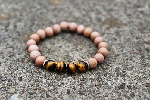 Cedar Wood & Tigers Eye Bracelet