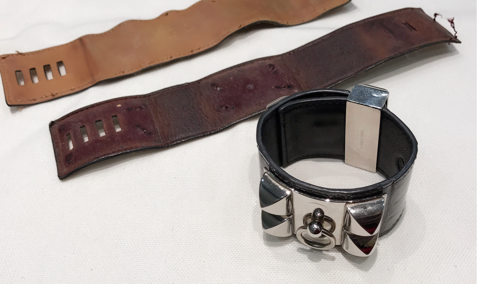 Bespoke leather bracelet