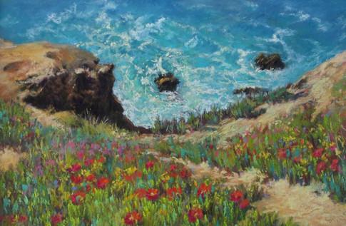 TA08-Spring Seascape-Pastel-35x45-£150-2