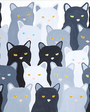 SH06-Cats,Cats,Cats-Acrylic_on_Canvas-40