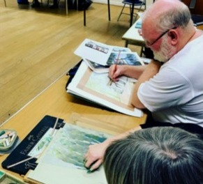 A busy evening sketching with Ron Marsh