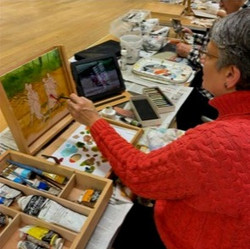 Thursday evening workshop with Gloria Shilling