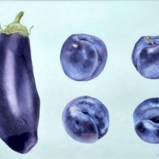 Aubergine & plums