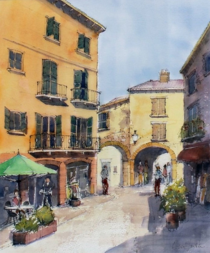 TR01-Bardolino_Lake_Garda-Watercolour-49