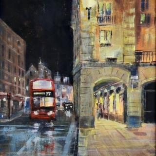 London at night acrylic