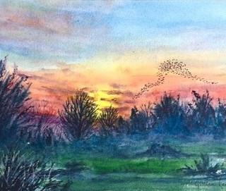 Epsom Downs, Sunset