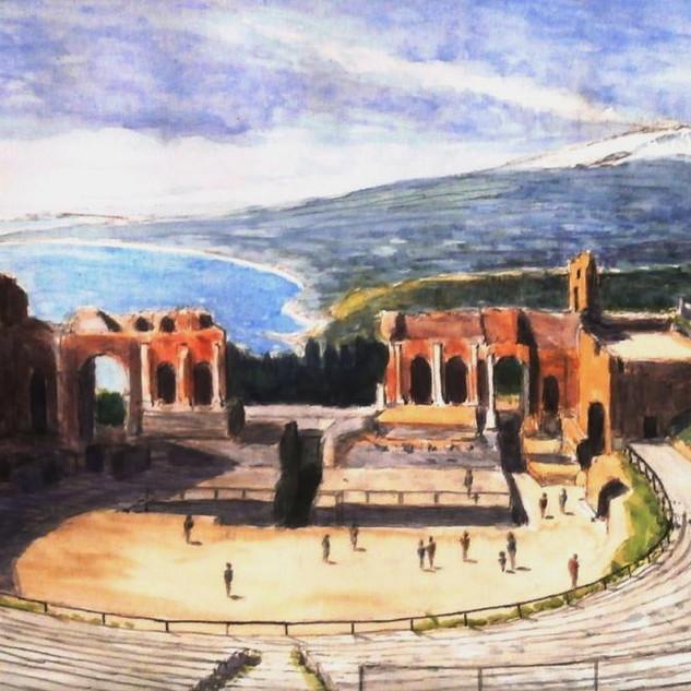 Taormina Greek Theatre, Sicily.JPG