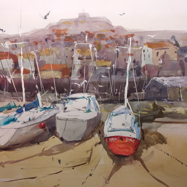 Boats at Rye  watercolour