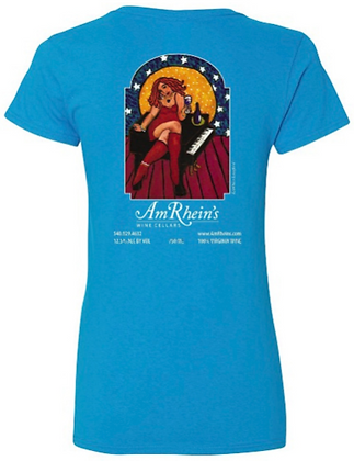AmRhein's Wine Cellars T-Shirt TURQUOISE