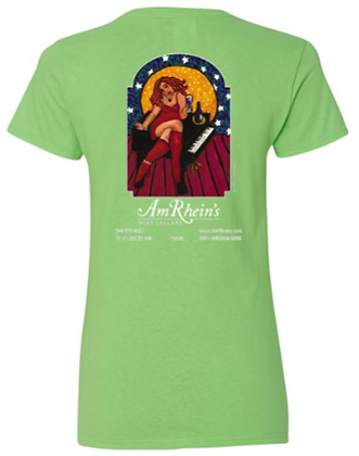 AmRhein's Wine Cellars T-Shirt LIME