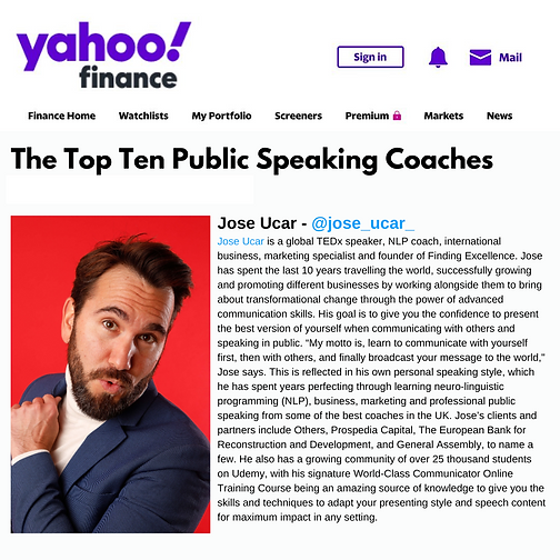 Top 10 Public Speaking Coaches Jose Ucar