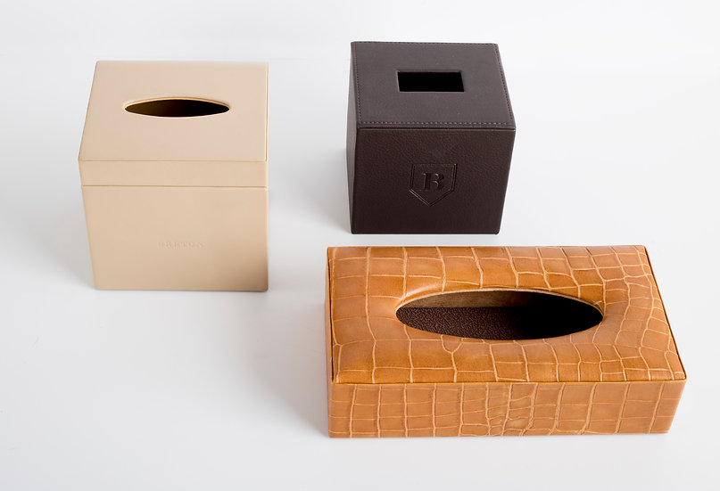 LEATHER TISSUE BOXES SELECTION
