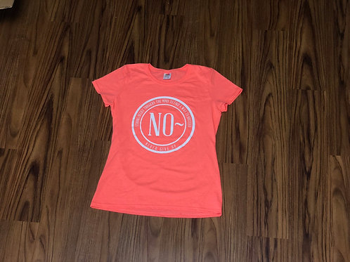 Women's Coral T-shirt with New Logo