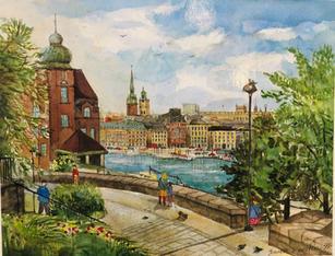 """""""En blick av Gamla stan"""", Stockholm, Sverige"""