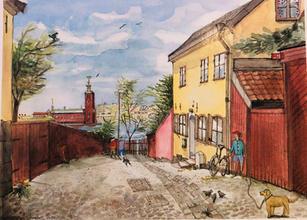 """""""En blick av Stadshuset"""", Stockholm, Sverige"""