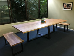 Blackbutt Camber with matching bench sea