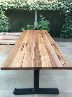 Custom Initial Messmate Dining Table