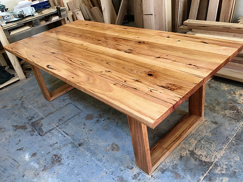 Recycled Messmate Dining Table Timber Loop Legs