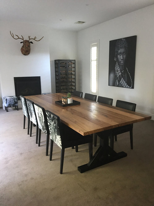 Dining Table Industrial X Legs Handmade