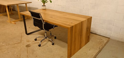 Custom Waterfall Desk in Blackbutt