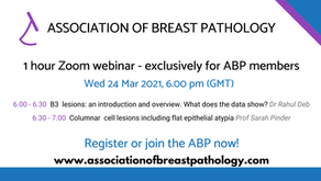 1-hour webinar session to cover practical topics in breast pathology