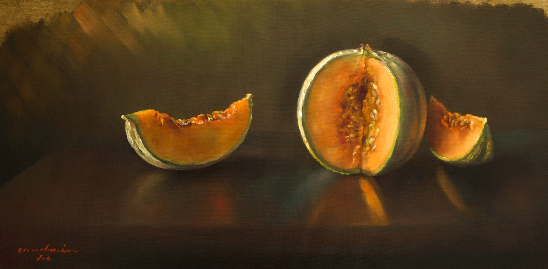 Melon et deux quartiers