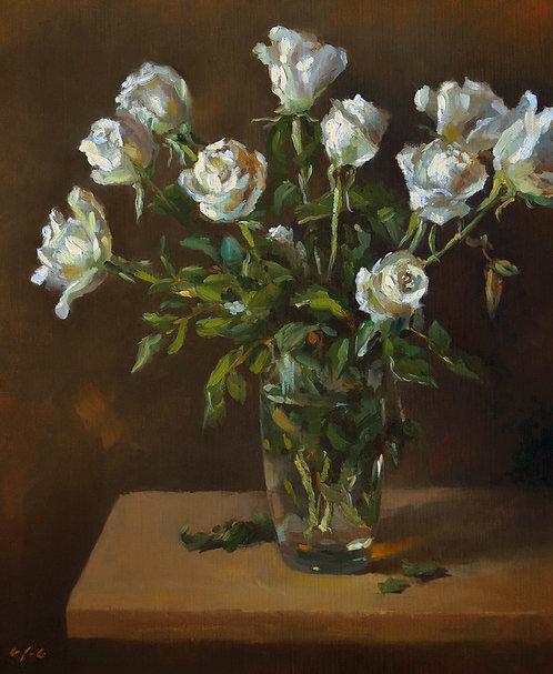 Les roses blanches, JC Gondouin