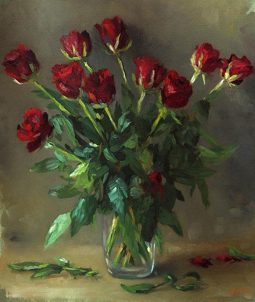 Bouquet de roses, JC Gondouin