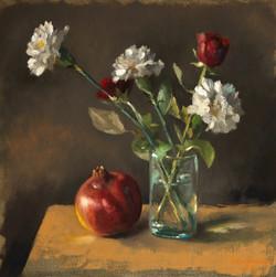 Oeillets et roses