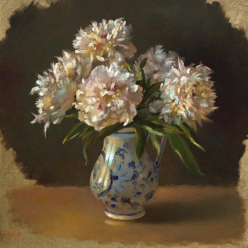 Bouquet de pivoines, JC Gondouin