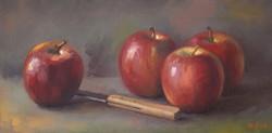 Pommes et couteau