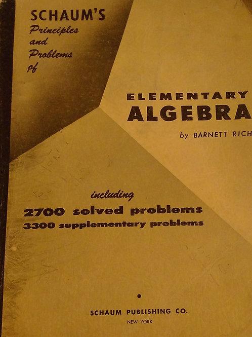 Schaum's Elementary Algebra By Barnett Rich