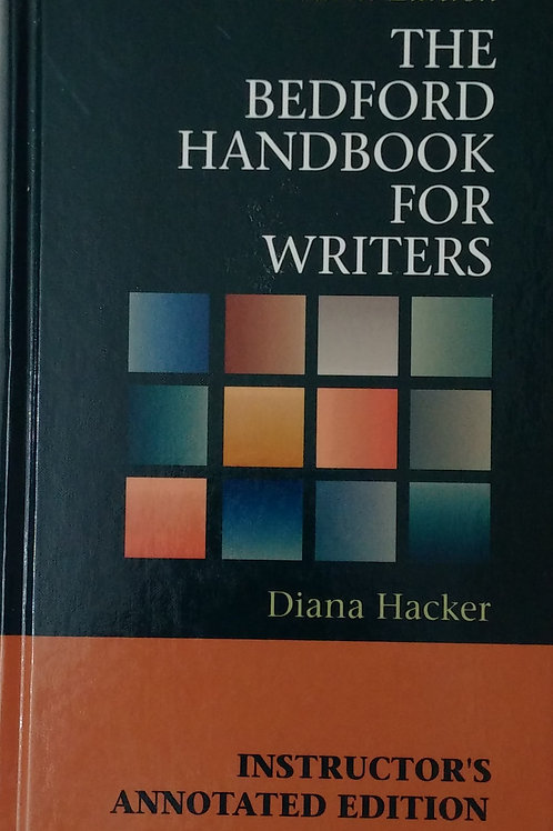 The Bedford Handbook For Writers Fourth Edition By Diana Hacker