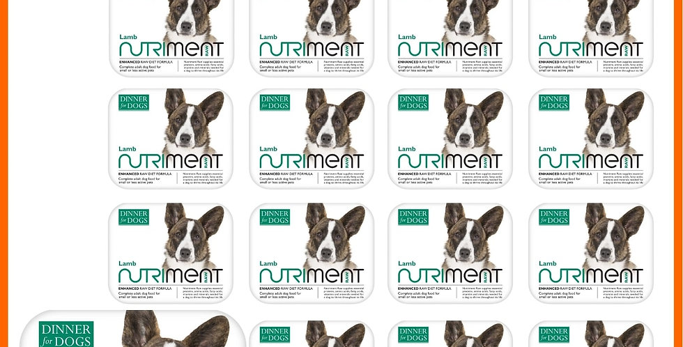 Nutriment Raw Dinner for dogs lamb small dog 200g trays in multipack