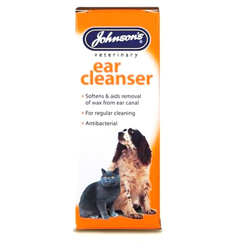 Johnsons veterinary ear cleanser cleaner for dogs and cats in retail bottle