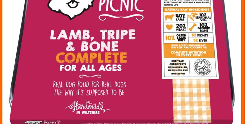 Lamb and Tripe mince complete raw formula for dogs BARF diet