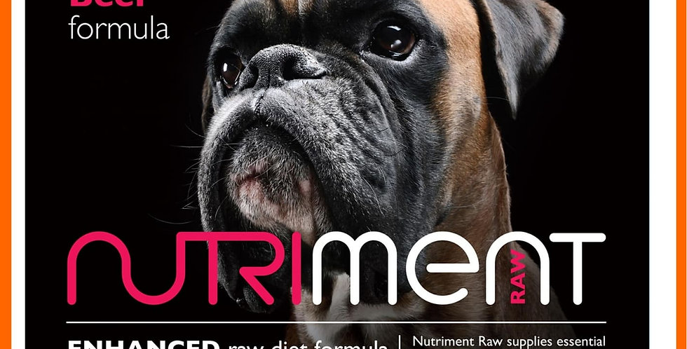 Nutriment boneless beef raw formula for dogs in 500g retail pack