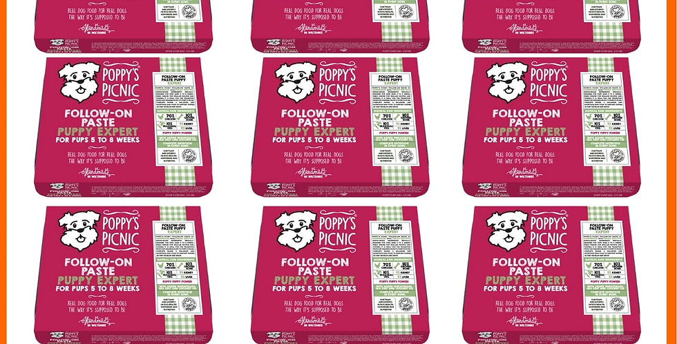 Poppy's Picnic Puppy Expert Raw dog food Multipack of ten trays BARF