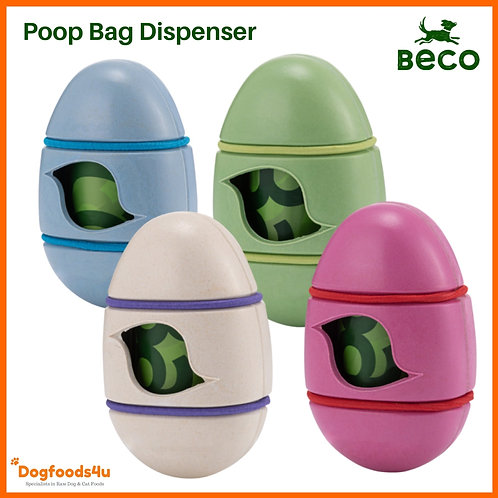 Beco Poop Bag dispenser for Dogs in 4 different colours, made from bamboo and sustainable, perfect for a raw fed dog
