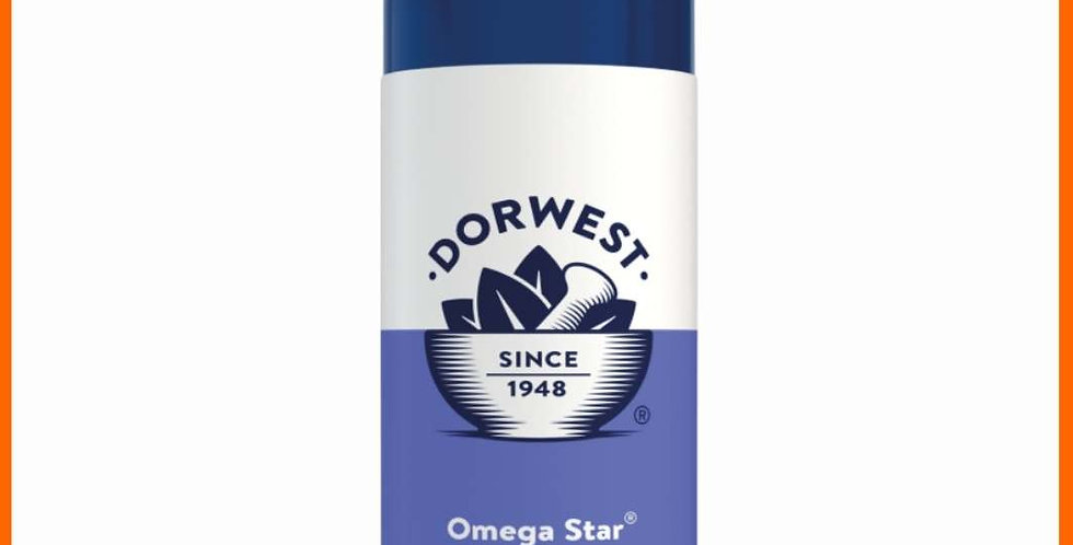 Dorwest - 500ml omega star for dogs - front of bottle
