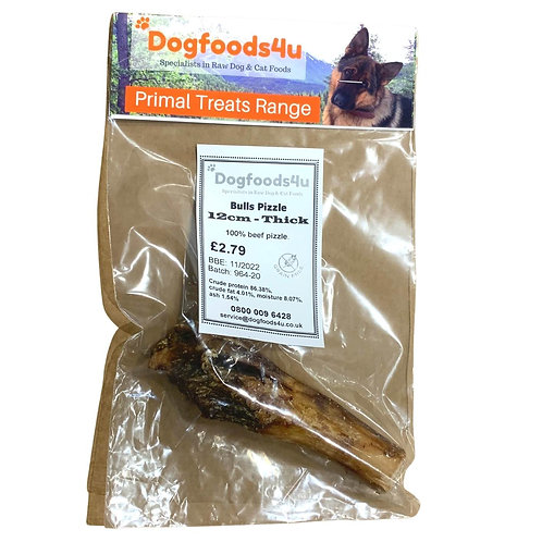 U4IA Bulls Pizzle 12cm dog treat