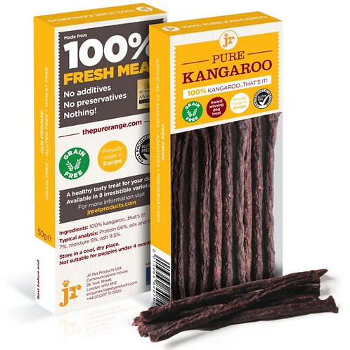 JR Pure Kangaroo Sticks for dogs -50g