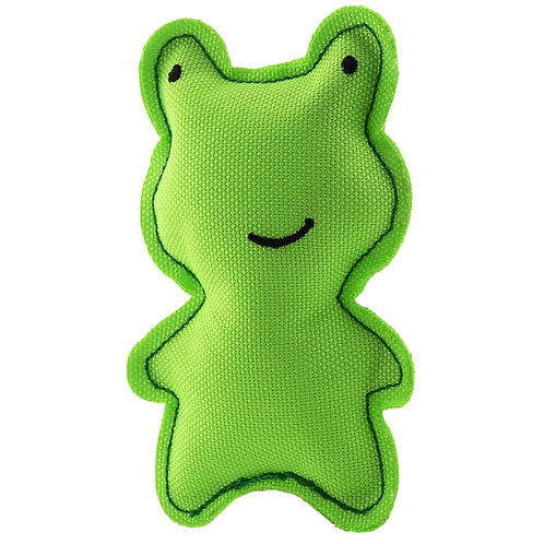 Green Beco Catnip frog cat toy