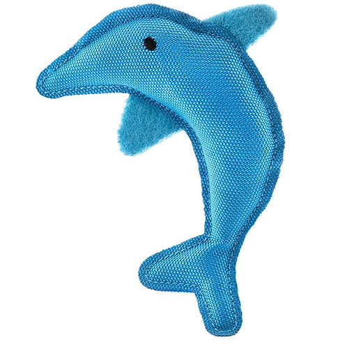 Beco Catnip Cat toy dolphin made from recycled material for pets