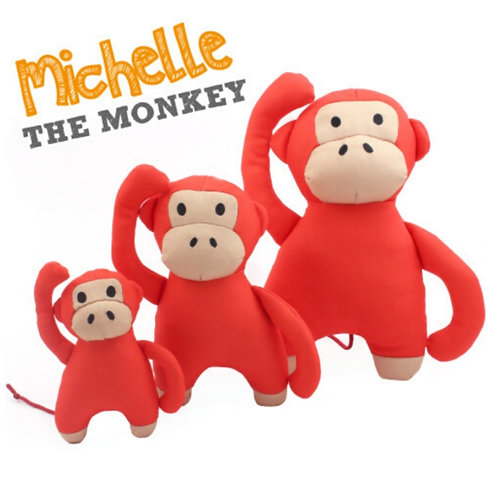 Beco Michelle the monkey tough dog toy